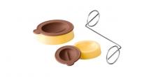 Molde p/ bombons grão de café DELICIA, 2 pcs, c/ concha