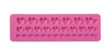 Silikonové formičky DELÍCIA DECO, bordura se srdíčky