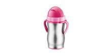 Kinder-Thermosflasche mit Trinkhalm BAMBINI 300 ml, rostfrei
