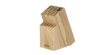 Block WOODY für 13 Messer, Geflügelschere/Wetzstahl