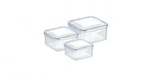 Dóza FRESHBOX 3 ks, 0.4,0.7,1.2 l, štvorcová