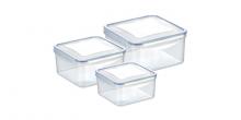 Dose FRESHBOX 3 St., 1.2, 2.0, 3.0 l, quadratisch