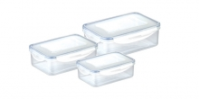 Caixa rectangular FRESHBOX 3 pcs, 1.0, 1.5, 2.5 l