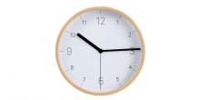 Nástenné hodiny FANCY HOME, drevo, biely ciferník