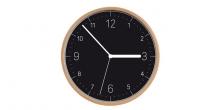 Nástenné hodiny FANCY HOME, drevo, čierny ciferník