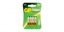 Alkalická mikrotužková baterie GP Super AAA, 4 ks