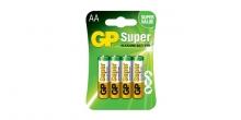 Alkalická tužková baterie GP Super AA, 4 ks