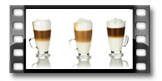 Latte-Macchiato-Glastasse CREMA 300 ml