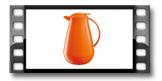 Thermosflasche mit Dosierverschluss FAMILY COLORI 1.0 l