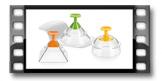 3D Speiseformer PRESTO FoodStyle, 3 Motive