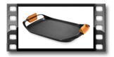 Patelnia do grillowania gładka SmartCLICK 42 x 28 cm