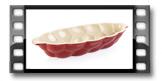 Forma cerâmica p/ trança de pão DELÍCIA