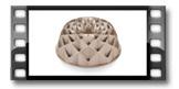 Forma na babkę wysoka DELÍCIA ø 24 cm, diament
