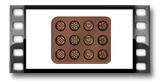 Forma p/ chocolates DELÍCIA SILICONE, bombons sortidos