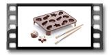 Moldes para chocolates Belgas DELÍCIA CHOCO, 2 pincéis