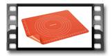Podložka na cesto s klipsou DELÍCIA SiliconPRIME 60x50 cm