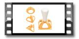 Cortador para ravioli DELÍCIA, 4 formas