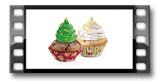 Cukrárske košíčky DELÍCIA ø 6 cm, 60 ks, vianočné