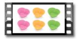 Formas de bolos em silicone DELÍCIA, 6 pcs, pequenos corações