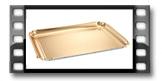 Podnos DELÍCIA 42x31 cm, zlatý, 2 ks