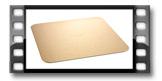 Taca papierowa na tort DELÍCIA 30x30 cm, złota, 2 szt.