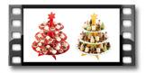 Patera 3- poziomowa DELÍCIA, motywy bożonarodzeniowe