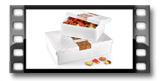 Schachtel für Gebäck und Delikatessen DELÍCIA, 40 x 30 cm