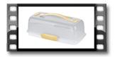 Boleira com refrigerador DELÍCIA 36x18 cm