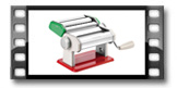 Strojek pro přípravu těstovin DELÍCIA, tricolore