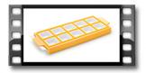 Forma p/ ravioli quadrado DELÍCIA, 10 pcs