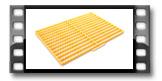 Tabuleiro corta massas para palitos DELÍCIA