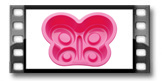 Molde borboleta DELÍCIA KIDS