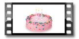 Velas de aniversário DELÍCIA KIDS 8 cm, 12 pcs