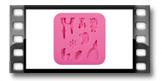 Foremki silikonowe DELÍCIA DECO, dla dziewczynek