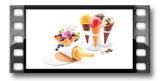 Conj. p/ cones e taças de gelado DELLA CASA