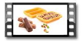 Moldes p/ barras nutritivas DELLA CASA, 3 pcs