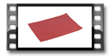 Prostírání FLAIR CLASSIC 45x32 cm, granátová