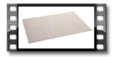 Base individual FLAIR RUSTIC 45x32 cm, pérola