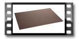 Base individual FLAIR RUSTIC 45x32 cm, castanho