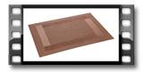 Base Individual FLAIR FRAME 45x32 cm, castanho
