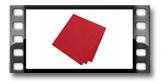 Guardanapos FLAIR, vermelho rubi