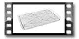 Taca GLANCE 40 x 26 cm, patyczki