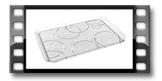 Tabuleiro GLANCE 40 x 26 cm, círculos