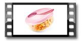 Prato de viagem PAPU PAPI, com colher, rosa