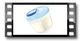 Recipiente para leite em pó PAPU PAPI, azul