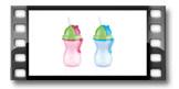 Botella para niños con cañita BAMBINI 300 ml