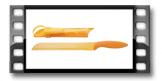 Antiadhezní nůž na cukrové melouny PRESTO TONE 22 cm