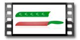 Antihaftbeschichtetes Messer für Wassermelone PRESTO TONE 30 cm