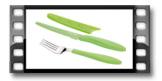 Antyadhezyjny nóż stołowy i widelec PRESTO TONE