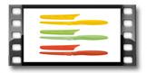 Antiadhezní nůž jídelní PRESTO TONE, sada 3 ks